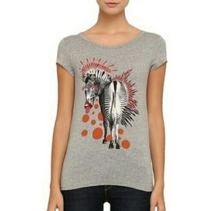 MARC BY Marc Jacobs Gray Zebra Graphic T Shirt S